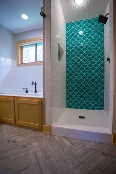 Moroccan Fish Scale Tile, Bathroom Tille Trends. Herringbone Wood-Looking Tile. | construction2style