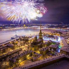 Салют в честь 23 февраля, Санкт-Петербург / February 23rd, 2016. Defender of the Fatherland Day, St.Petersburg, Russia.