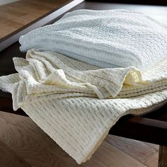 Organic Cotton Blanket - an eco-friendly cotton blanket with a subtle, textural beauty