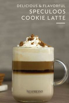 Look out peppermint mocha—there's a new holiday coffee drink in town. This Speculoos Cookie Latte offers a rich and delicious way to stay warm during the cold winter months. Made with the bold taste of Arpeggio Coffee, this is one Nespresso recipe that you'll want to remember. Click here to learn more.