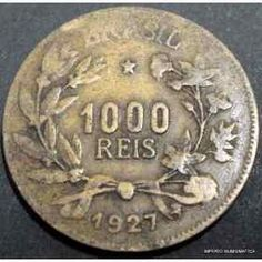 Old brazilian coin. 1927.