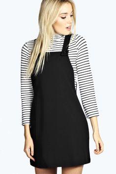 Leandra Woven Pinafore Dress alternative image