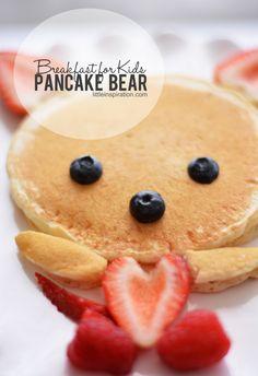 Breakfast For Kids: Pancake Bear - would be a cute Valentine's Day breakfast for kids!