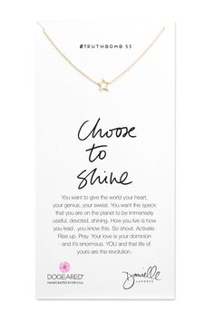 choose to shine | @dogearedjewelry + @daniellelaporte #Truthbomb Collection #dogeared #truthbomb