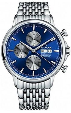 Edox Men s 01120 3M BUIN Les Bemonts Analog Display Swiss Automatic Silver  Watch a946dd45b0c