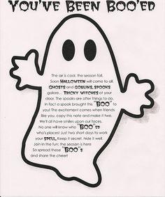 "Halloween Neighborhood ""Phantom"" Ghost Tradition & Print Out"