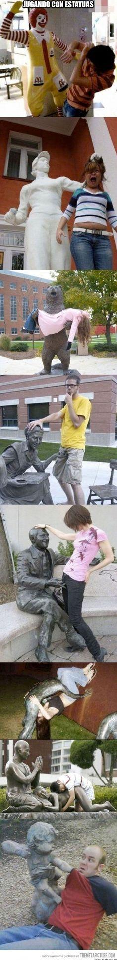 Trolleando algunas estatuas        Gracias a http://www.cuantocabron.com/   Si quieres leer la noticia completa visita: http://www.estoy-aburrido.com/trolleando-algunas-estatuas/