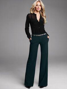 Wide Leg Womens Dress Pants