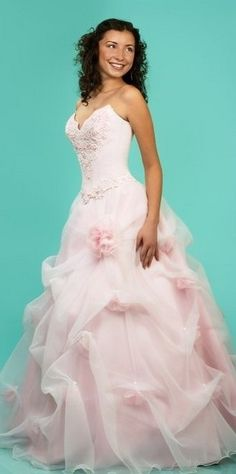 pretty pink wedding dress