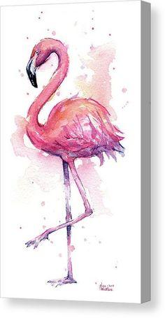 Flamingo Painting, Flamingo Art, Pink Flamingos, Flamingo Tattoo, Pink Painting, Flamingo Drawings, Painting Wallpaper, Pink Flamingo Wallpaper, Water Colour Painting Ideas