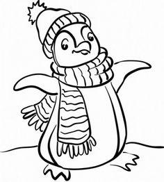 ausmalbild weihnachten: kostenlose malvorlage: weihnachts-pinguin mit zuckerstange kostenlos