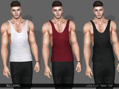 Sims 3 clothing https://www.thesimsresource.com/downloads/details/category/sims3-clothing-male/title/low-cut-tank-top/id/1392198/