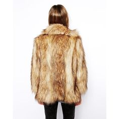 ASOS Vintage Faux Fur Coat found on Polyvore featuring women's fashion, outerwear, coats, beige coat, asos, vintage coat, imitation fur coats and fake fur coats