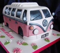Pink VW Camper Van Cake