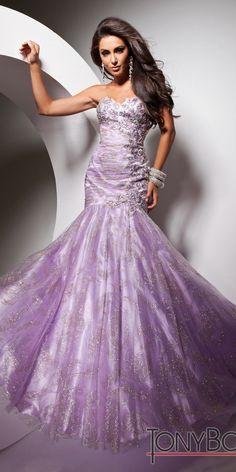 Tony Bowls Le Gala Purple Mermaid Dress 113507