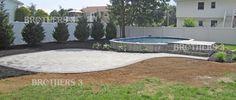 Semi Inground — Brothers 3 Pools Semi Above Ground Pool, In Ground Pools, Semi Inground Pools, Home Repairs, Garden Planning, Garden Landscaping, Swimming Pools, Backyard, Outdoor Decor