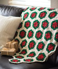 Mistletoe Throw - A #holiday #blanket #pattern from Love of #Crochet magazine's Winter 2014 Issue