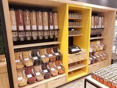 Neo Granel é um novo conceito de armazenamento e exposição e vendas de alimentos a granel desembalados com Bins (dispensers) de policarbonato...