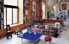 """AD, Yves Klein's """"Table Bleue"""""""