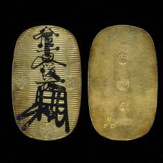 gold 10 ryo oban 1600 edo