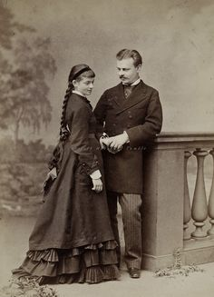 """Just engaged"" Circa 1875."