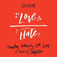 So excited for February's doodle session on Tuesday! This month we'll have access to the laser cutter at @catylator during the meeting for you to engrave a design out of wood! It's $5 to engrave and limited to a maximum size of 6 inches by 6 inches. SEE YOU THERE! RSVP at bit.ly/SSLLoveHate (letters by @abdullasyed) #ssletters #madeatcatylator #acreativedc #lettering #handlettering #dtss #silverspring #bythings