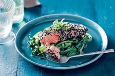 Weeknight dinners just got gourmet with this delicious yet simple Asian salmon dish.
