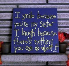 Sister Quote  Gift for Sister  Canvas Art 9x12 by MadeByTheHearth, $25.00