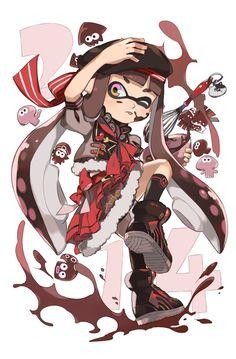 Dessins Splatoon x Saint Valentin Nintendo Splatoon, Splatoon 2 Art, Illustration Kawaii, Fan Art, Video Game Art, Pokemon, Cute Characters, Animal Crossing, Chibi