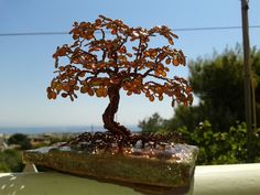 Wire tree with Nail Polish