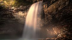 Скачать обои водопад, скала, лес, природа, раздел пейзажи в разрешении 1920x1080