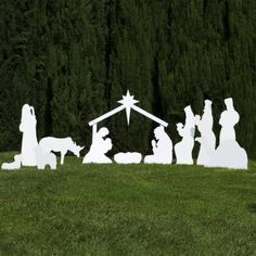 I have wanted one of these Nativitys for a long time.  Silhouette Outdoor Nativity Set - Full Scene - Outdoor Nativity Store