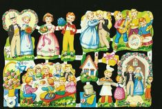 It is in stunning colorful. Envelope Box, Decoupage, Die Cut, Precious Children, Vintage Paper Dolls, Retro Toys, Old Toys, Christmas Angels, Pansies