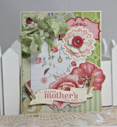 Shabby Chic Handmade Card Mother's Day by jlleddy on Etsy