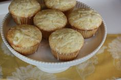 GF lemon muffins. used lemon juice and all rice flour/tapioca starch/diy baking powder/sea salt/soy milk/homemade powdered sugar/Horizon Organics unsalted butter. ours were tasty! we made mini's.