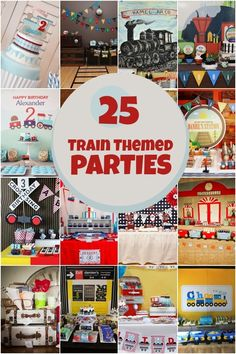 Boys' Train Birthday Party www.spaceshipsandlaserbeams.com
