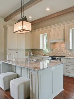 Kitchen Granite (thicker and consider rough edges) *extend to make a huge island with breakfast bar/nook