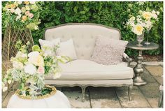 gatehouse no1 furniture for Utah Bride Magazine #Utah #style #bride #wedding with @Blossom Sweet #floral #photography #settee #interiordesign #furniture @GateHouse No.1
