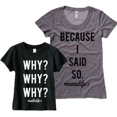 Mommy and Mini Toddler shirt set. Mommy and me tshirts.  Mommy and me. Shirt set. by ChamomileAndRoses on Etsy https://www.etsy.com/listing/255539044/mommy-and-mini-toddler-shirt-set-mommy