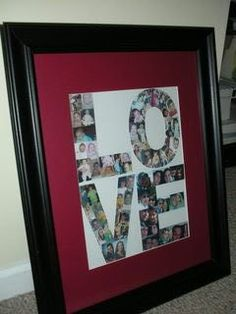 DIY Parent Gifts - Photo word art.  This could be done many different ways.  Lots of potential!