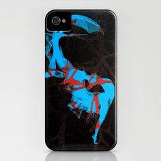 Dance_Blue - iPhone Case by Garima Dhawan