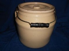 Antique Storage Crock With Bail Handle