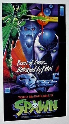 1992 original Image Comics Spawn comic book promo poster 1: 1990's/McFarlane art