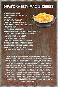 Famous Daves Mac n Cheese (from their website)