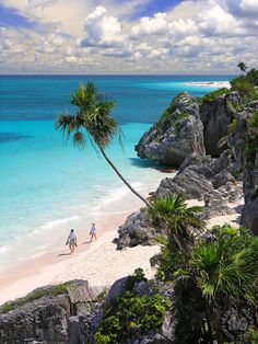 Tulum, Mexico. One of my favourite yoga teachers Bryan Kest, has yoga retreats here and I have every intention to go but haven't had the chance. This place looks absolutely beautiful and some day I will be there ... :)