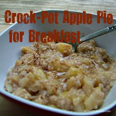 Crock-Pot Ladies Crock-Pot Apple Pie for Breakfast – With 1 tbsp of brown sugar added to the original recipe, macros based on the MyFitnessPal calorie calculator are: 178 calories 39 grams of carbs 2 grams of fat 3 grams of protein