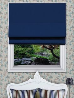 Curtis Royal Roman Blinds -  The Curtis roman blind range can be made with standard or blackout lining. The blackout lining can only be made with roman blinds with a deluxe headrail system.
