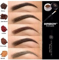 Anastasia dip brow pomade Love this product $18 but it last a long time definitely better then brow pencils or brow powder lots of tutorials in YouTube if you a newbie you can find this in sephora or Macy's