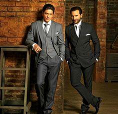 Bollywood actors Shah Rukh Khan and Saif Ali Khan adele
