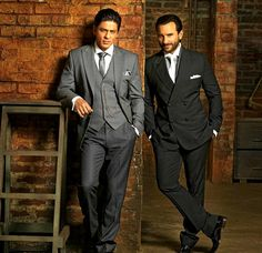 Bollywood actors Shah Rukh Khan and Saif Ali Khan